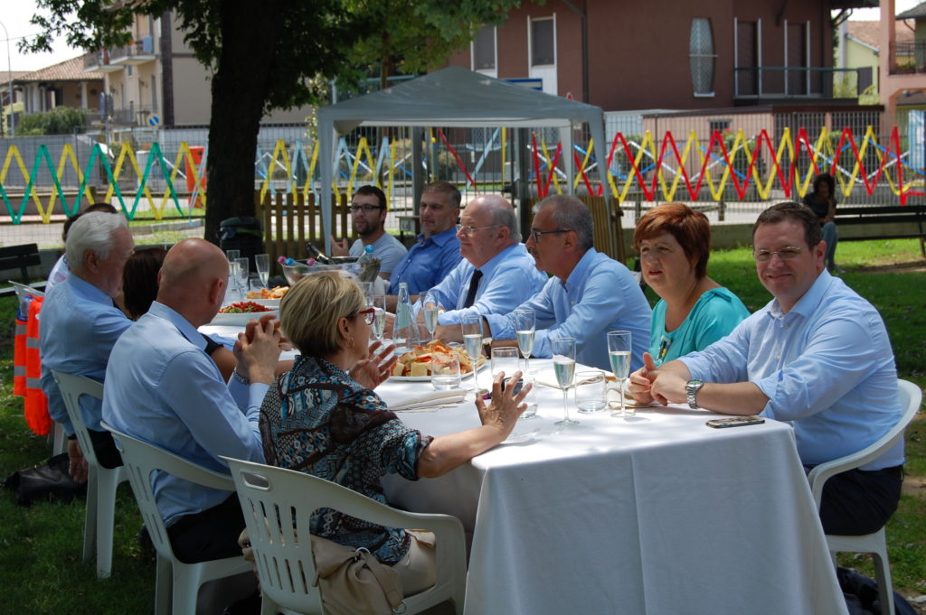 Croce Bianca Milano sez. Giussago - la festa dei 10 anni di sezione - il pranzo