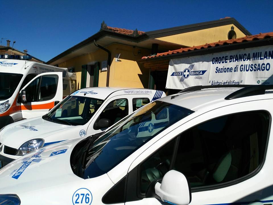 Il parco automezzi Croce Bianca Milano Giussago