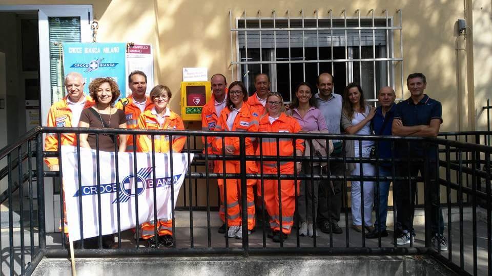 Inaugurazione defibrillatore DAE borgarello Croce Bianca Giussago