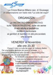Corso primo soccorso e disostruzione vie aeree in età adulta e pediatrica a Vellezzo Bellini - Croce Bianca Milano sez. Giussago