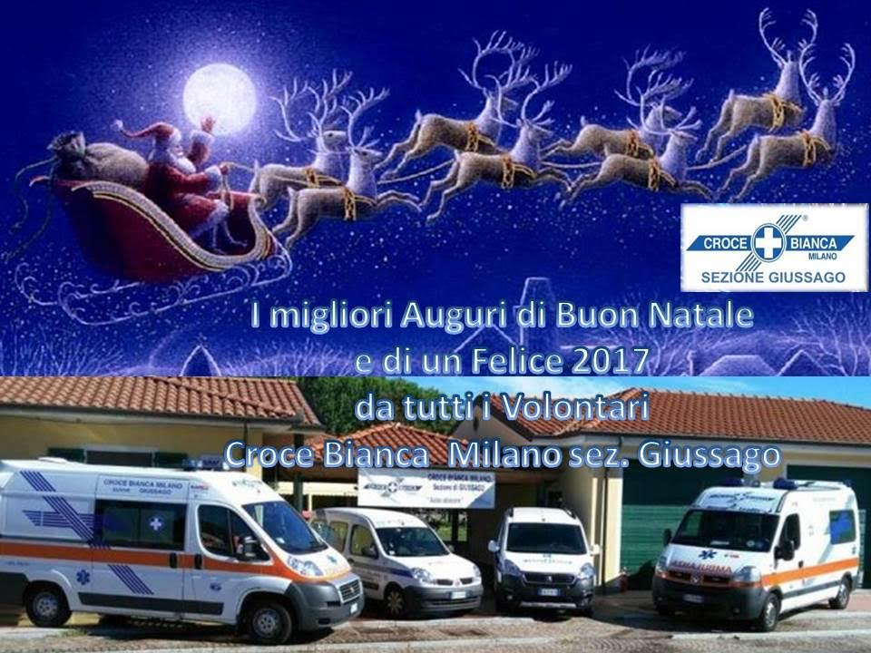 auguri 2016 Croce Bianca Milano sez. Giussago