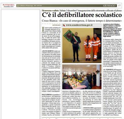 Inaugurazione defibrillatore scuole Guissago - Croce Bianca