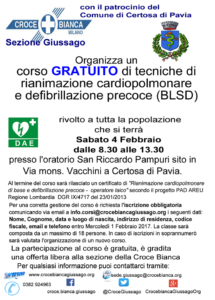 Corso gratuito PAD Oratorio Certosa di Pavia
