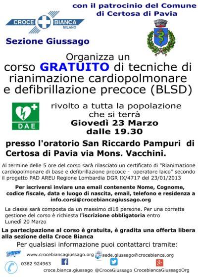Corso gratuito PAD Oratorio Certosa di Pavia ed.2