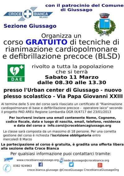 Corso gratuito PAD Giussago ed. 2