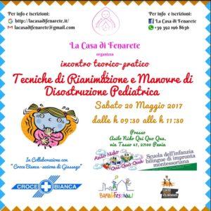Corso Disostruzione pediatrica Fenarete - Croce Baicna Giussago