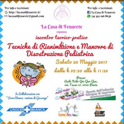Corso Disostruzione pediatrica Fenarete - Croce Bianca Giussago