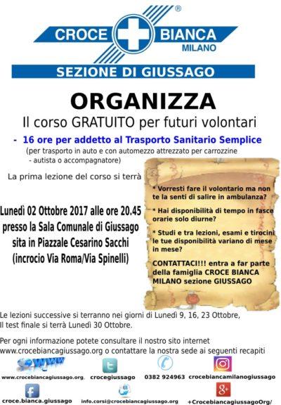 Corso 16 ore Croce Bianca Milano sez. Giussago
