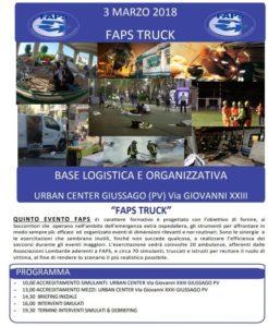 FAPS truck - Simulazione Maxiemergenza Giussago