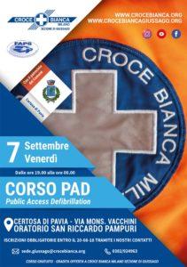Corso defibrillatore Pad 7 settembre 2018 Certosa di Pavia