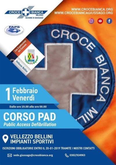 Corso PAd defibrillatore Vellezoz Bellini Croce Bianca Giussago